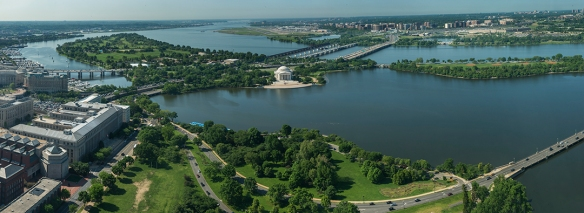 Looking South, Jefferson Memorial, Tidal Basin and Beyond